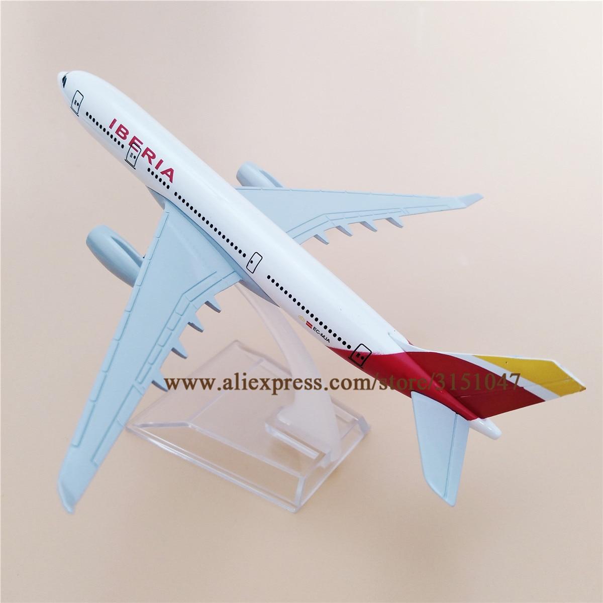Aire España IBERIA Airlines A330 Airbus 330 Airways modelo de avión de aleación de Metal modelo de avión Diecast aviones 16cm regalo