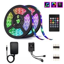 Musica Luci di Striscia del LED, senza fili LED Strisce di Luce 10M SMD 5050 2835 Controller di Musica LED RGB Luci Nastro non Impermeabile