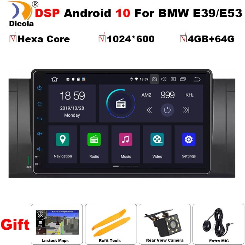 """PX6 Android 10 4 + 64G Hexa Core GPS navegación 9 """"reproductor de DVD del coche para BMW E39/E38 serie 7/M5 1997-2003 con BT/RDS/Radio/SWC/USB"""
