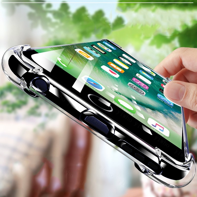 Ultra Thin Clear Case For iPhone 11 12 Pro Max XS Max XR X Soft TPU Silicone Case For iPhone 7 8 6 6