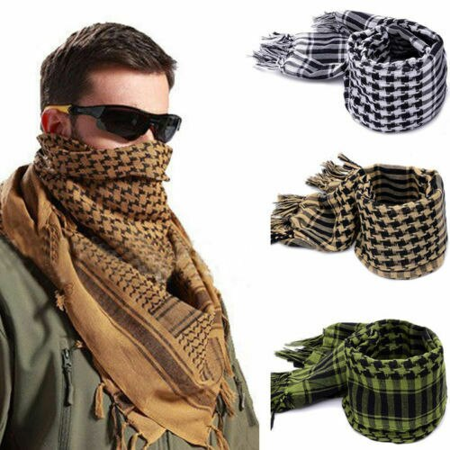 Moda novedosa 2020, chal cuadrado ligero para exteriores, militar, táctico árabe, Ejército del desierto, bufanda Shemagh KeffIyeh Arafat