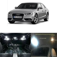 led interior car lights for audi a4 05 08 room dome map reading foot door lamp error free 18pc
