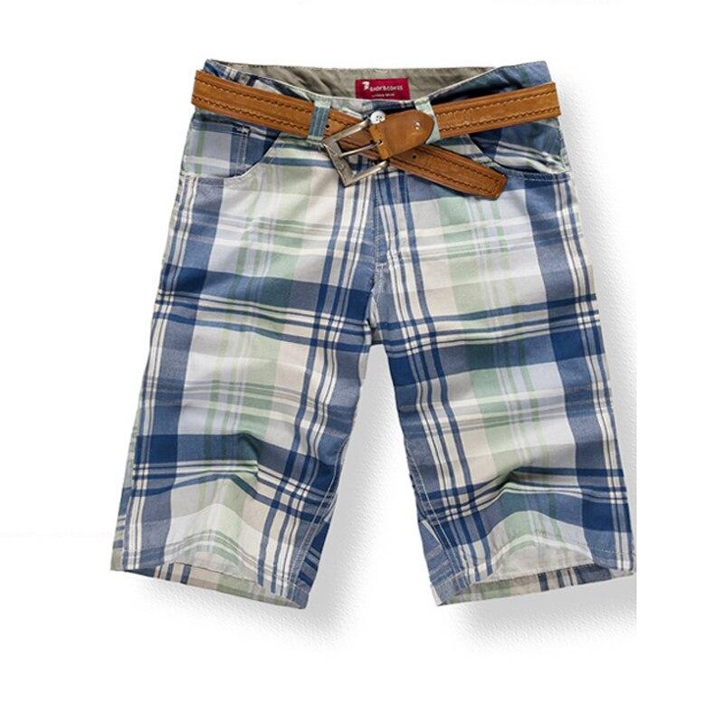 Pantalones cortos para hombre, pantalones cortos hasta la rodilla de algodón 100%, pantalones cortos playeros a la moda informal para verano KWK222