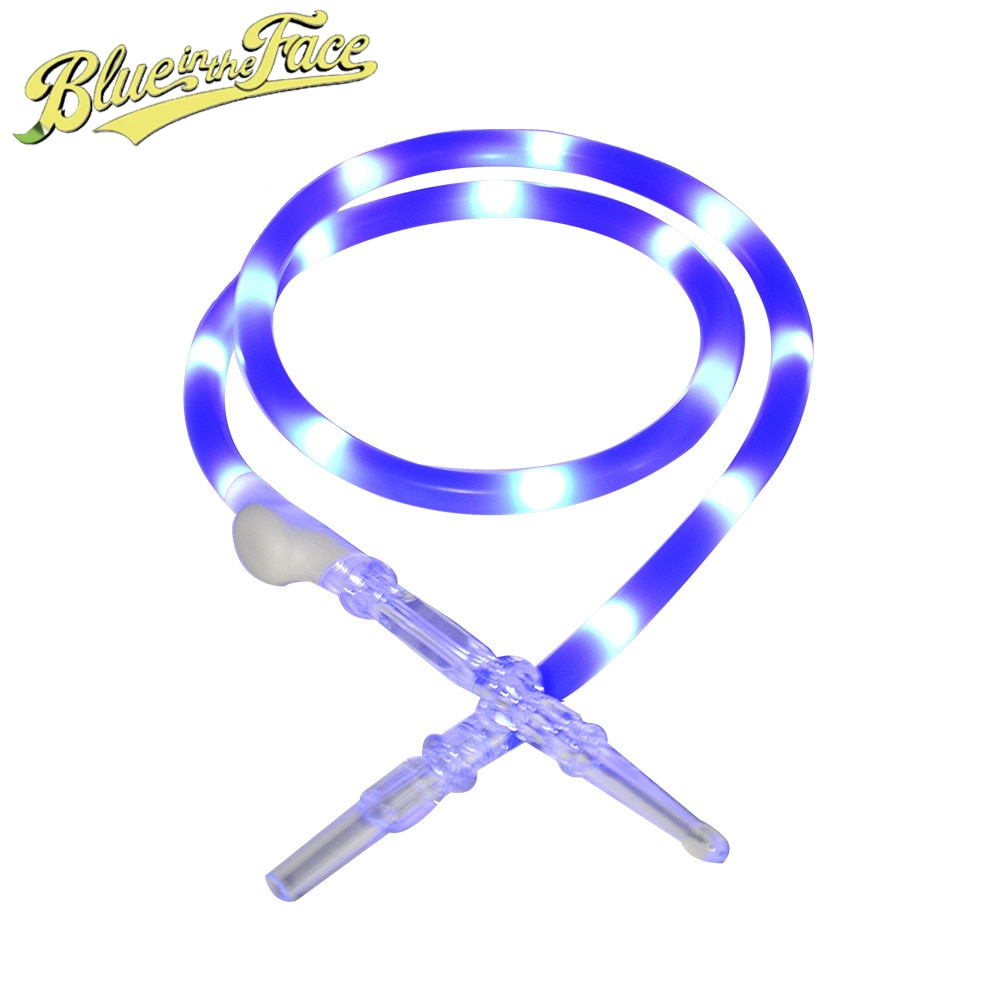 Luminescent Hookah Pipes SET 150 CM Silicone Pipes Aluminum alloy Shisha Tubes With Mouthpieces