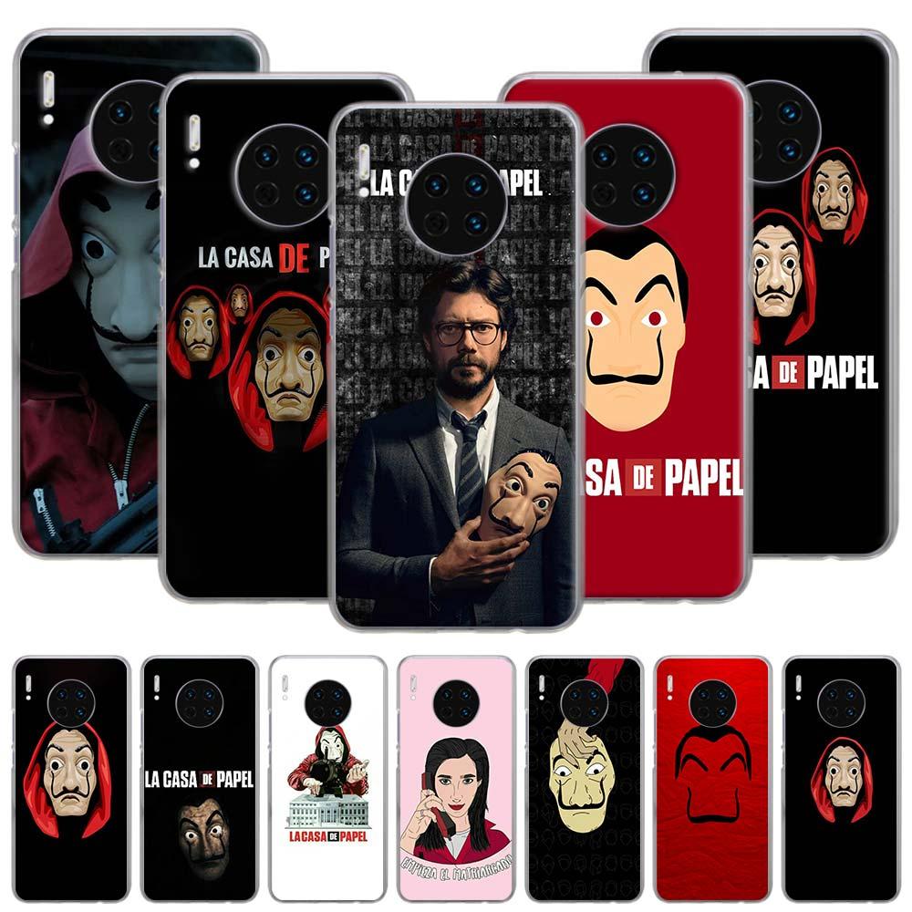 Spanien TV La Casa de papel Fall für Huawei Mate 10 20 Lite 30 Pro P30 P40 Lite Ehre 9A 9S 9C 9X 10i Hard Cover Capa