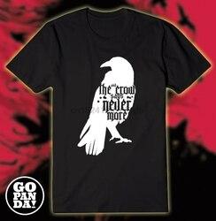 Maglia tshirt edgar allan poe o corvo il corvo nunca mais libra poesia