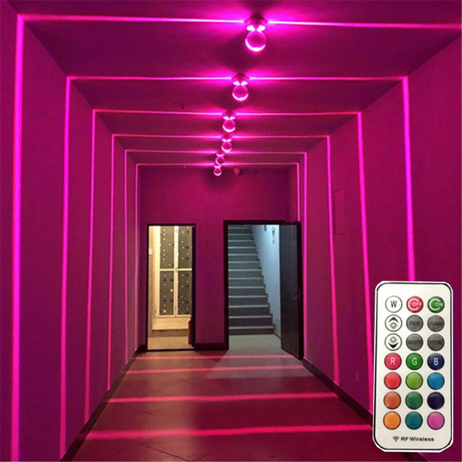 Beiaidi rgb led janela peitoril quadro da porta lâmpada de parede com remoto villa hotel corredor feixe ray linha luz parede decoração luz
