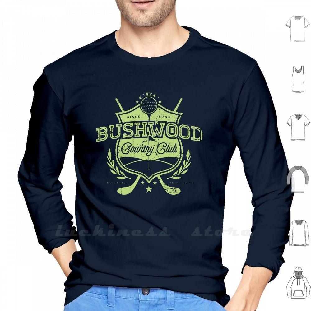 """Bushwood Club de la manga larga de los hombres adolescentes camisa de béisbol """"Caddyshack"""" Chevy Chase Snl Golf golfista Golf, pelota de Golf Swing"""
