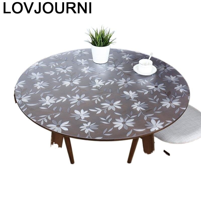 مفرش طاولة PVC دائري ، غطاء أنيق ، Tovaglie Cosas Para El Hogar ، مفرش طاولة