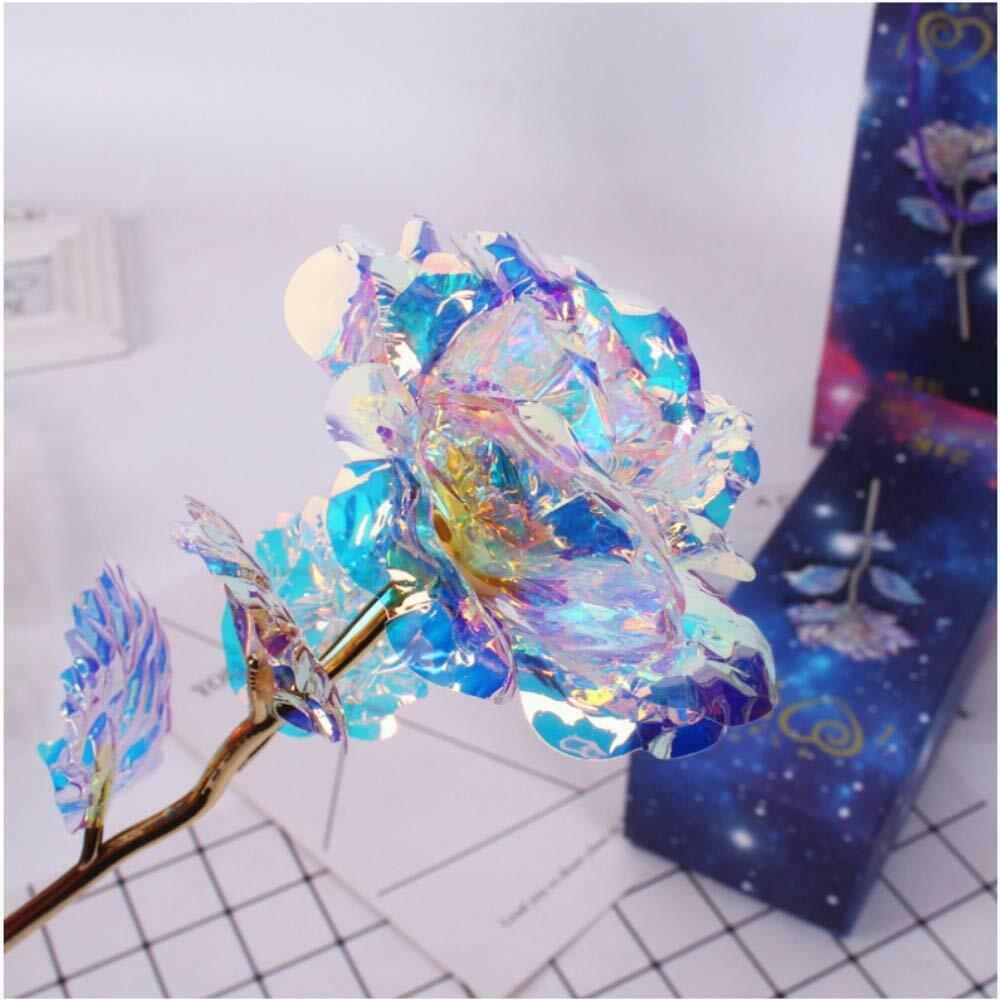 Galaxy rosa flor com base de amor suporte presente para amigos dia dos namorados aniversários aniversário de casamento decorações de natal