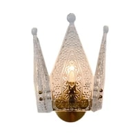 italian style ancient french crown glass wall lamps living room study aisle luxury palace decoration sconces lights lighting