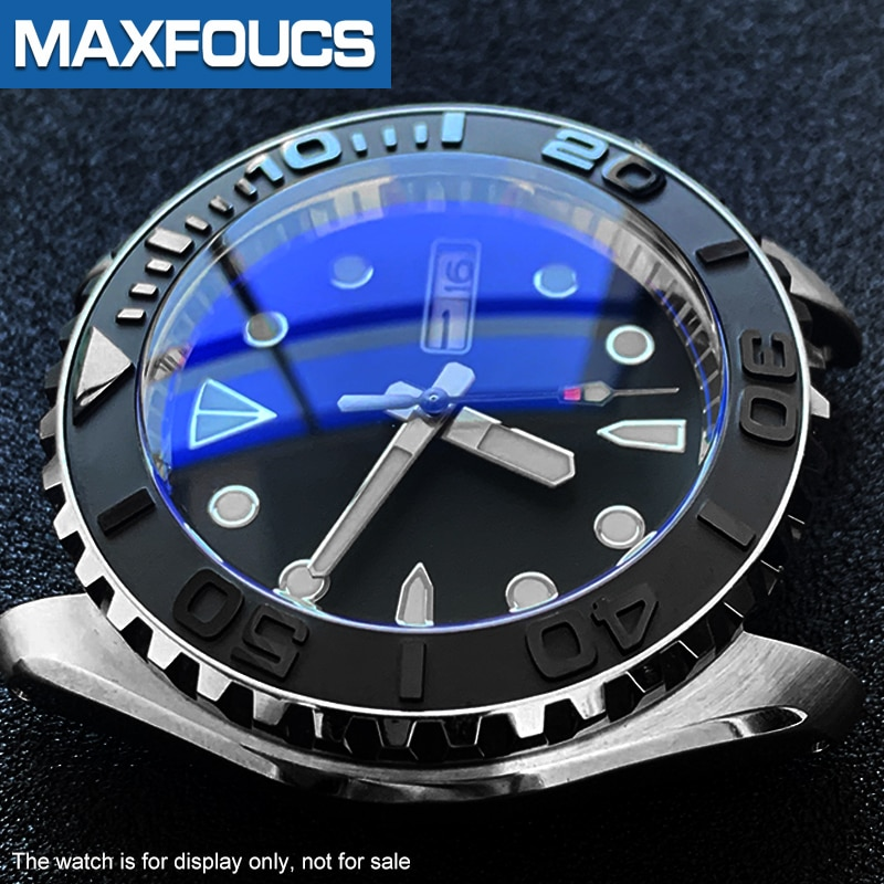 10PCSxDouble dome  with Slotted edge Sapphire crystal replace Parts For Seiko brand SKX007 009 011 enlarge