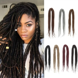 Dansama Double Ended Dreadlocks Extensions Handmade Synthetic Dreads 20 Inch 10 Strands/Pack Crochet Braiding Hair Extensions