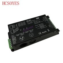 D4-XE 4CH PWM الجهد المستمر CV DMX512 RDM LED فك تحكم مع شاشة ديجيتال XLR3 RJ45 DC12V 24 فولت 36 فولت المدخلات 8A * 4CH