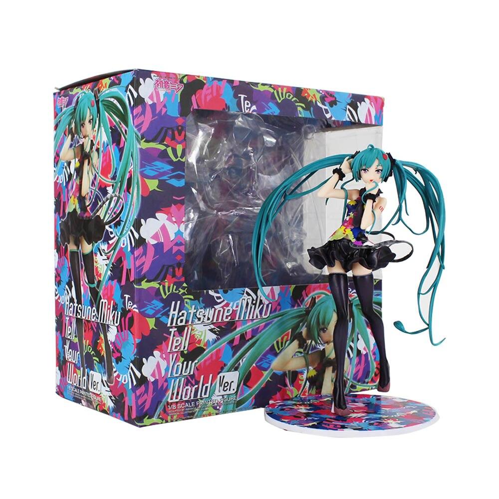 Вокалоид Хацунэ Мику гонки Мику фигурки 20 см скажите ваш мир вер сексуальные ПВХ Аниме фигурки Brinquedos модель красоты