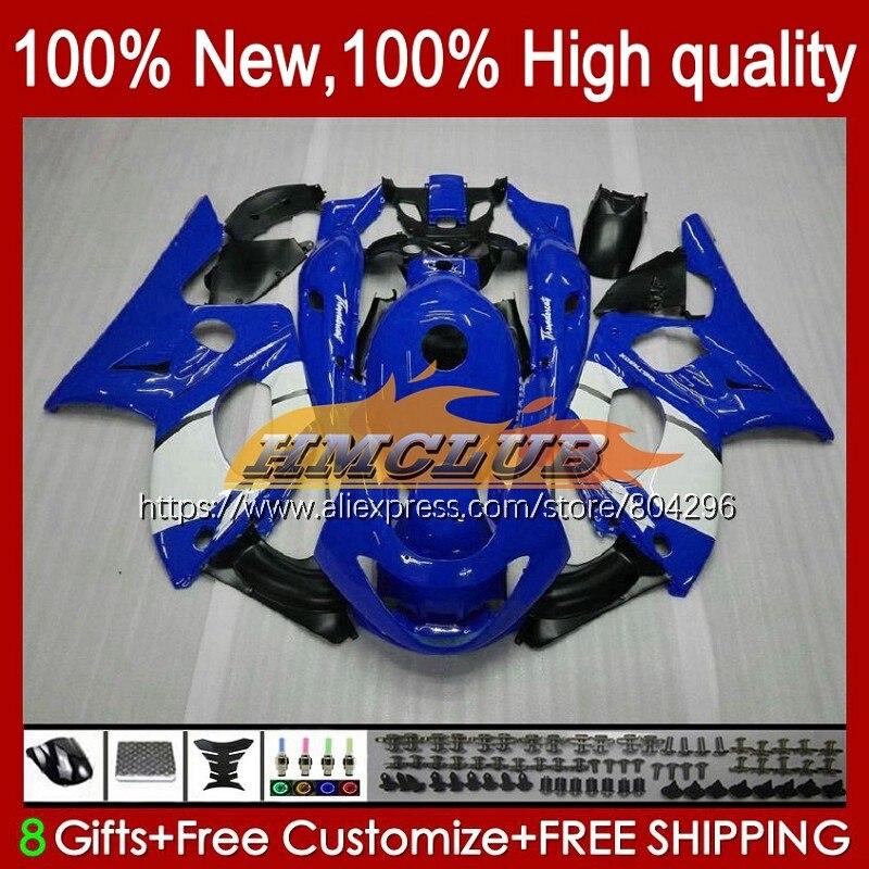 Thundercat كيت لياماها YZF600R 96 97 98 99 الأزرق الأبيض 00 01 45No.19 YZF-600R YZF 600R 2002 2003 2004 2005 2006 2007 هدية