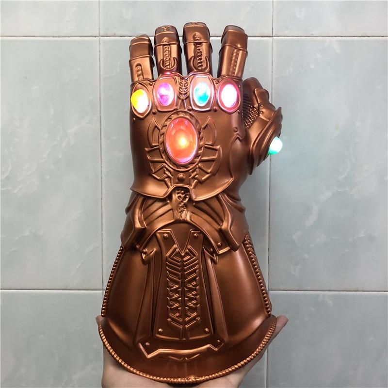 Endgame Realm Cosplay Gloves Led Light Thanos Gauntlet Gloves Halloween Kids Gift Prop