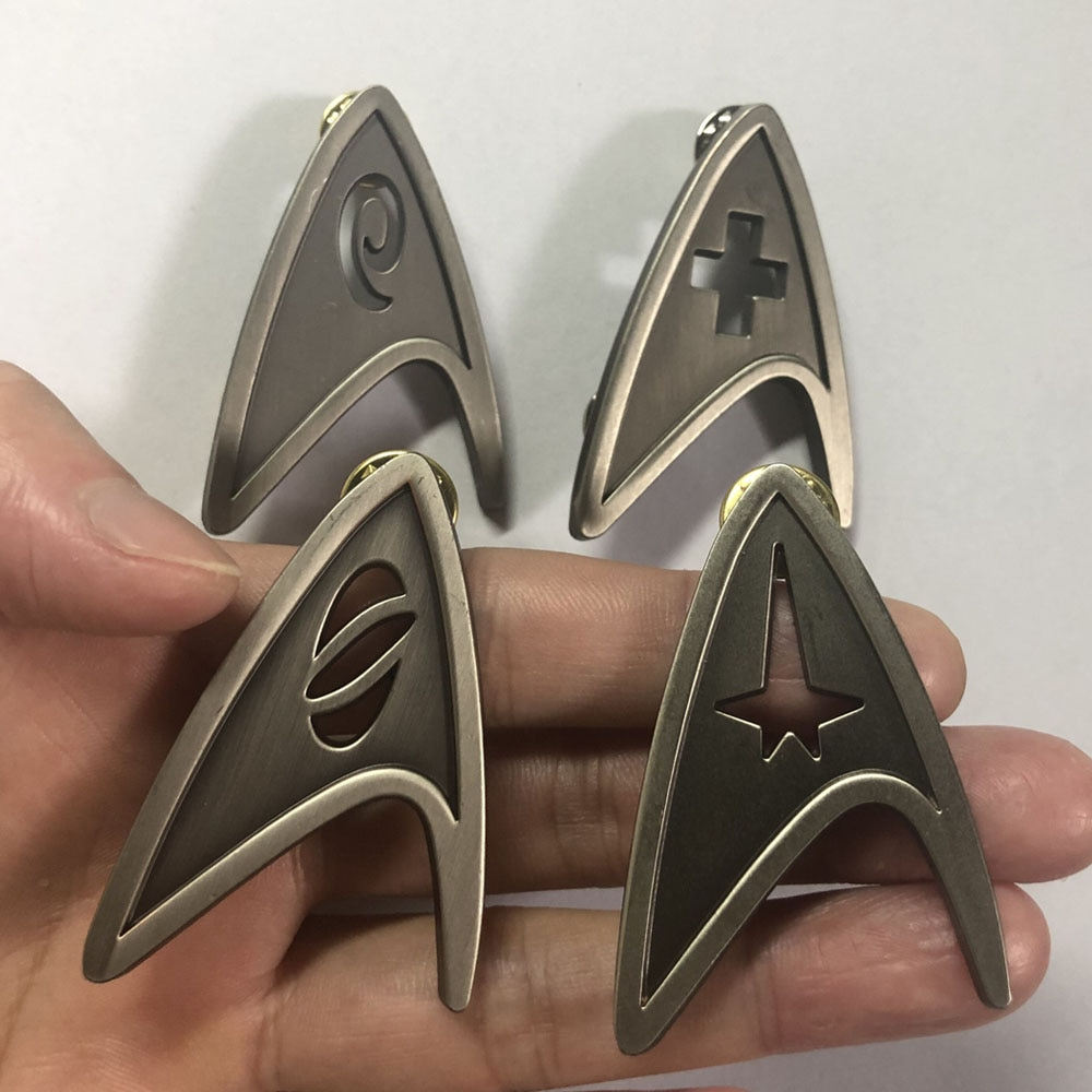 AliExpress - Star Cosplay Command Division Badge Starfleet Pins Science Engineering Medical Metal Brooch Accessories Costume Props