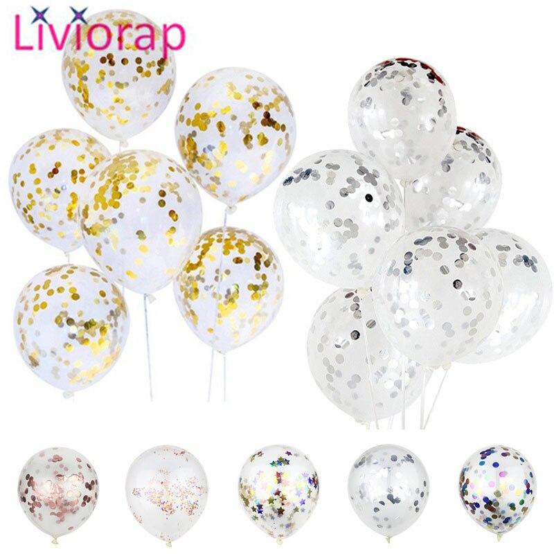 Liviorap 10pcs Gold Inflatable Latex Balloon Air Wedding Party Decorations Balloons Happy Birthday Confetti Global