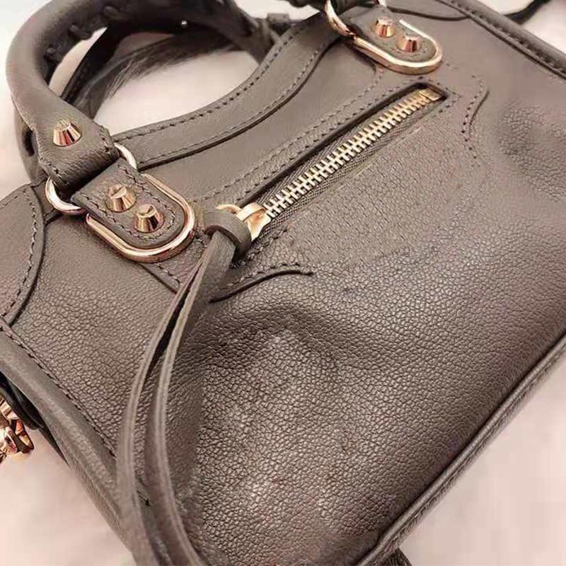 Vintage Tassel Rivet Single Shoulder Bag Crossbody Sheepskin Messenger Bag Women's Large Capacity Handbags Genuine Leather