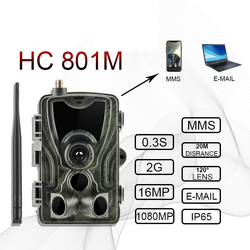 2G الصيد كاميرا تعقب 20MP 1080P MMS/SMTP/SMS اللاسلكية الحياة البرية كاميرات صور الفخاخ HC801M للرؤية الليلية صياد Chasse