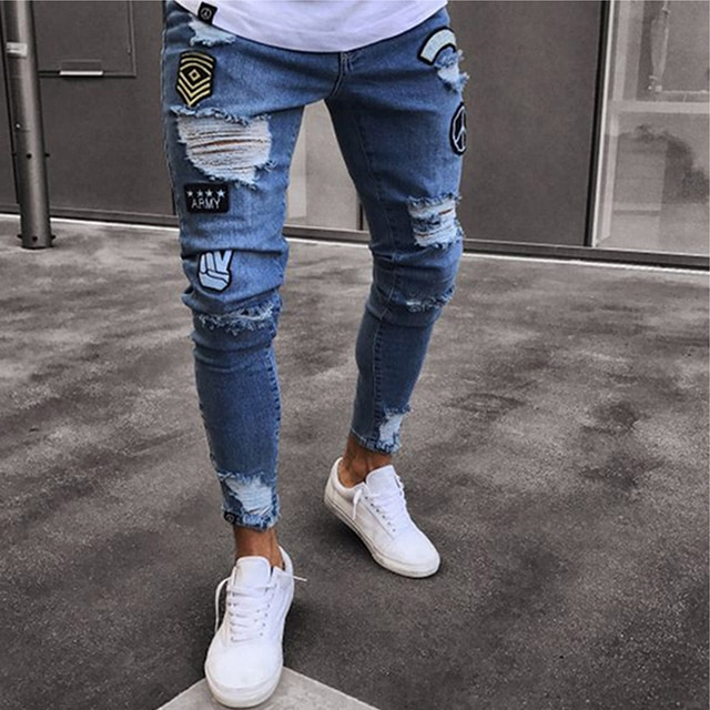 NEW Embroidered Fashion Street Jeans 6