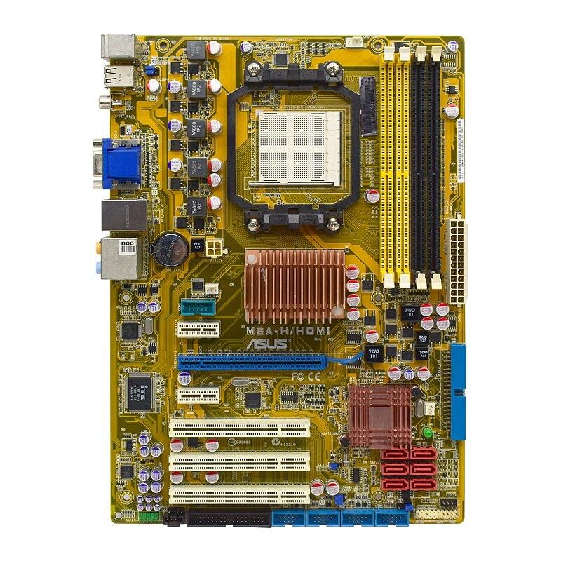 ASUS M3A-H/HDMI Socket AM2+ AMD 780G Original Desktop PC Motherboard DDR2 Phenom FX/Athlon64 Cpus PCI-E X16 VGA HDMI SATA II ATX