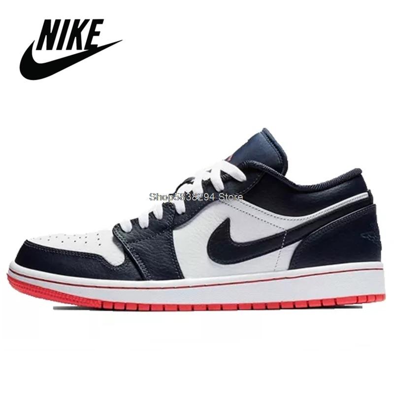 Nike �C Air Jordan 1 Retro High Original Aj1 pour homme et femme, chaussures de Basketball, baskets blanches confortables