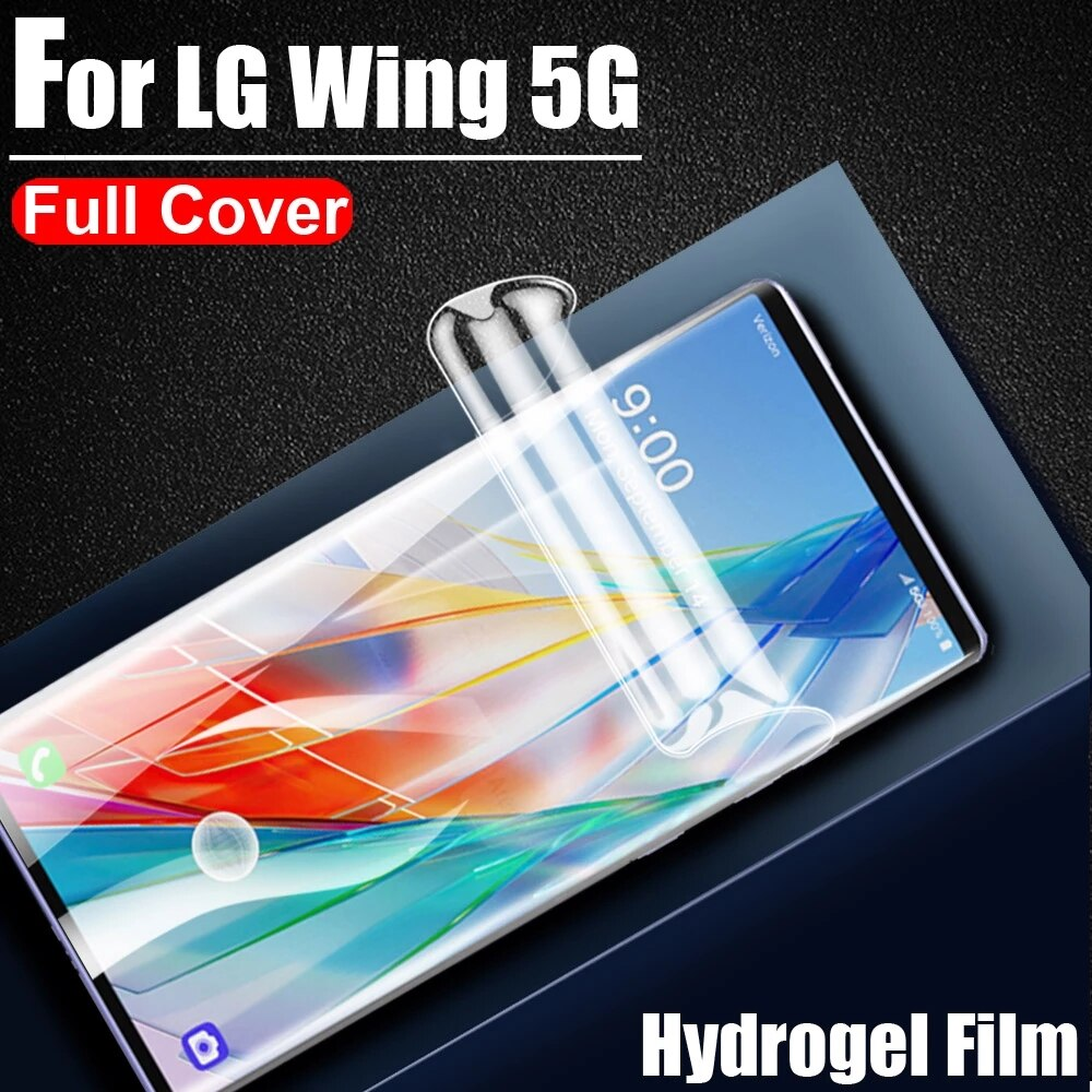 Full Screen Cover Screen Protector For LG Q61 K51S K41S K61 K51 K41 K31 Q70 Q60 Q9 Q7 Hydrogel Film Protective Film