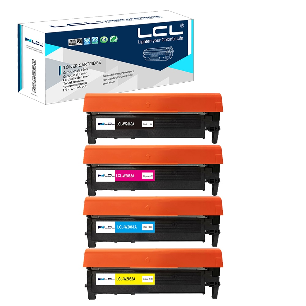 LCL 116A W2060A W2061A W2062A (4-Pack,Black,Cyan,Magenta,Yellow) Toner Cartridge Compatible for HP Color Laserjet Pro 150a 150n