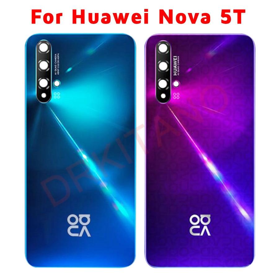 Оригинальная Задняя стеклянная панель для Huawei Nova 5T крышка батареи задняя крышка корпуса Дверь чехол Замена для Huawei Nova 5T Задняя крышка батареи
