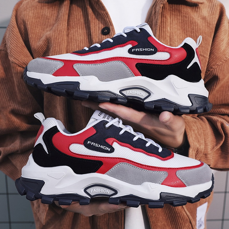 Zapatillas gruesas transpirables para hombre, zapatos deportivos para correr, zapatos deportivos para...