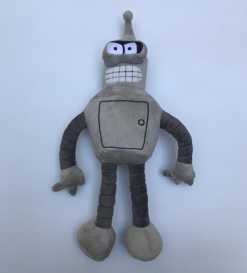Muñeca de película Robot doblador Cosplay suave mascota de juguete 40cm de altura gris de peluche y felpa muñeca de dibujos animados