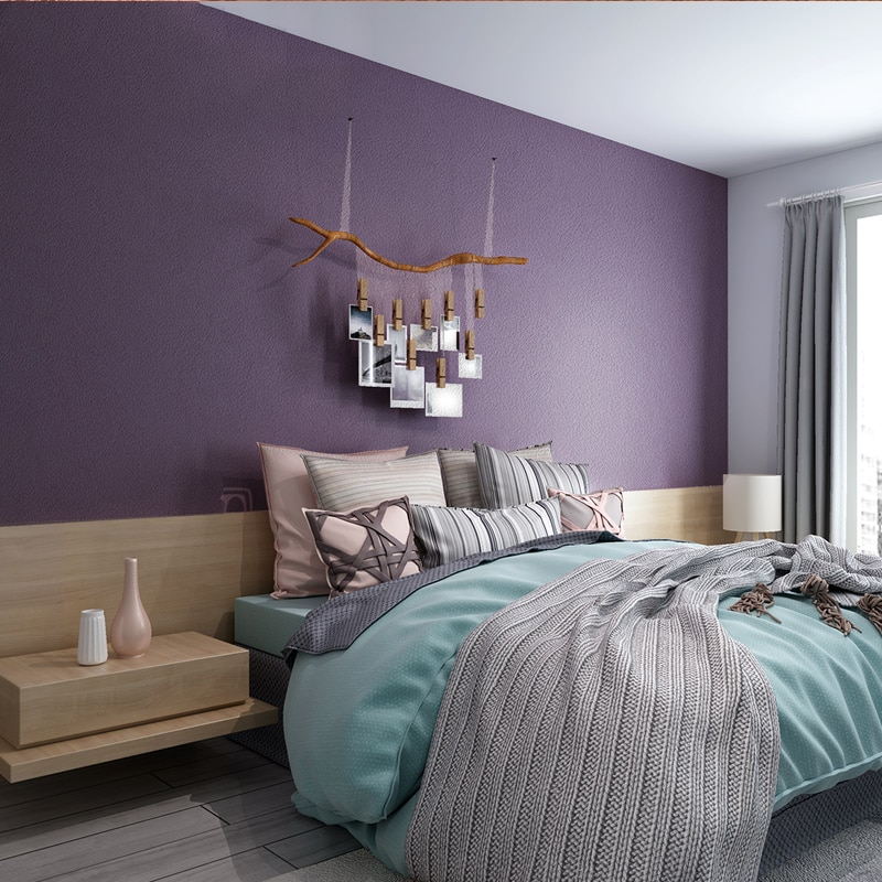[Sound insulation and noise reduction] Solid color lavender Viole 3D three-dimensional Suede velvet