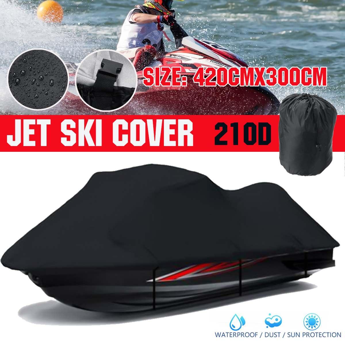 420x300cm Jet Ski Boat Cover 210D Waterproof Sunshade Anti Snow Watercraft Motorboat Cover For Yamaha WaveRunner EXR/VX Cruiser