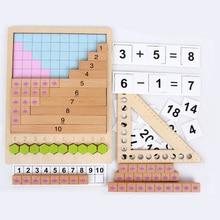 Jouet mathématique Montessori Addition soustraction Multiplication Division arithmétique boîte dapprentissage Puzzle Table jeu aides pédagogiques