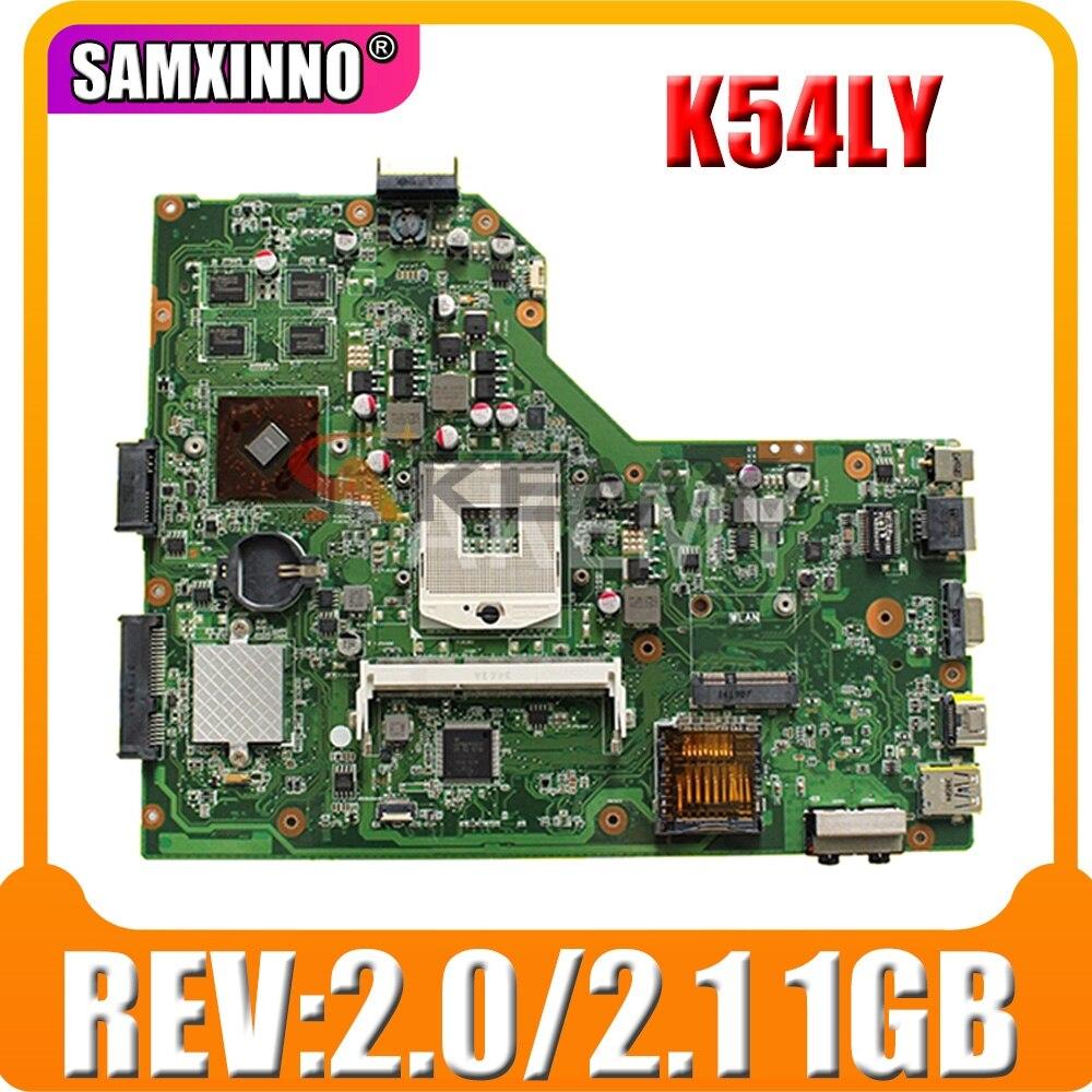 لوحة الأم K54LY REV:2.0/2.1 1GB ل Asus X54H K54HR X54H K54LY اللوحة الرئيسية K54LY اللوحة الرئيسية K54LY اختبار 100% OK