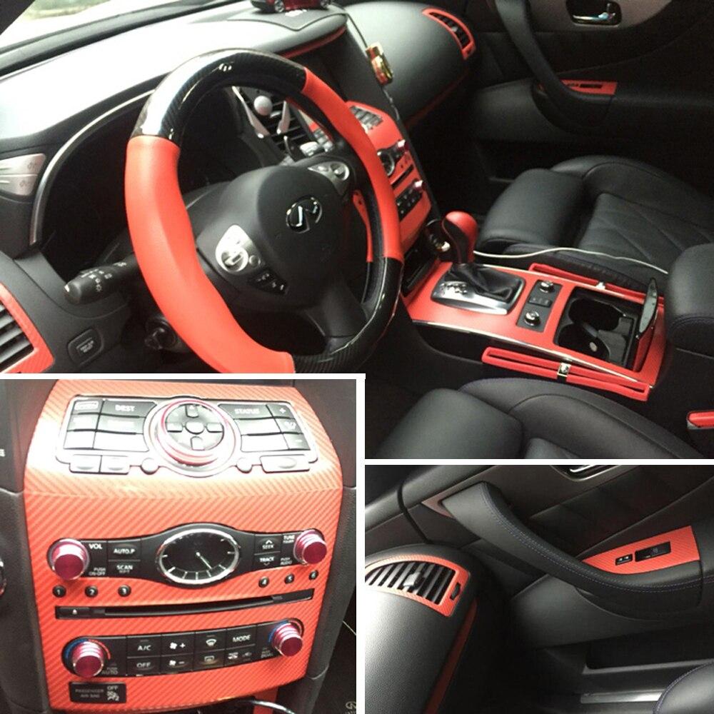 Автомобильный Стайлинг 5D углеродное волокно Автомобильный интерьер центральная консоль изменение цвета молдинг наклейки для Infiniti QX70 FX35 FX37...