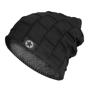 New Unisex Fleece Lined Beanie Hat Knit Wool Warm Winter Hat Thick Soft Stretch Hat For Men And Women Fashion Skullies & Beanie