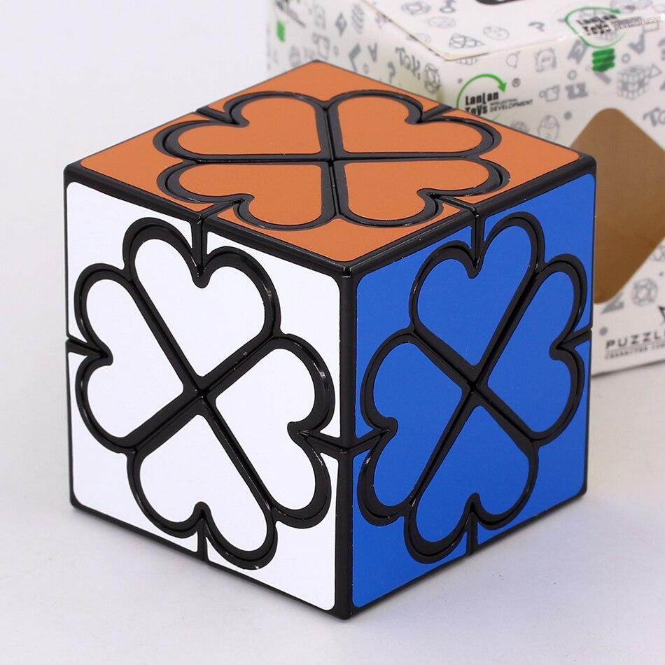 Пазл магический куб LanLan счастливый клевер динозавр влюбленный куб нажимный куб магический волшебный куб для детей куб 2x2