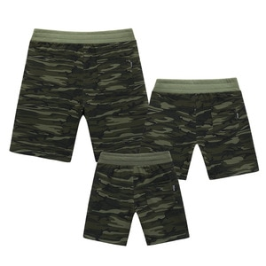 Family Look Summer Shorts Army Green Shorts Suit Family Matching Clothes Dad Baby Boy Me Pants Shorts Fashion Mother Son Outfits