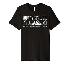 2019 New Mens T Shirts Todays Schedule Cyclings Mountain Bikings Coffee Beer MTB Tee Tee shirt