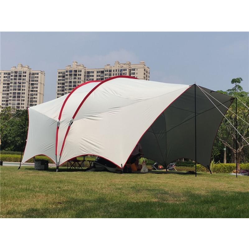 الأشعة فوق البنفسجية 4 5 6 شخص ضخمة هابي الصيد SUV ظلة الشاطئ المظلة حفلة العريشة السفر خيمة سيارة بارك الرحلات في الهواء الطلق التخييم خيمة