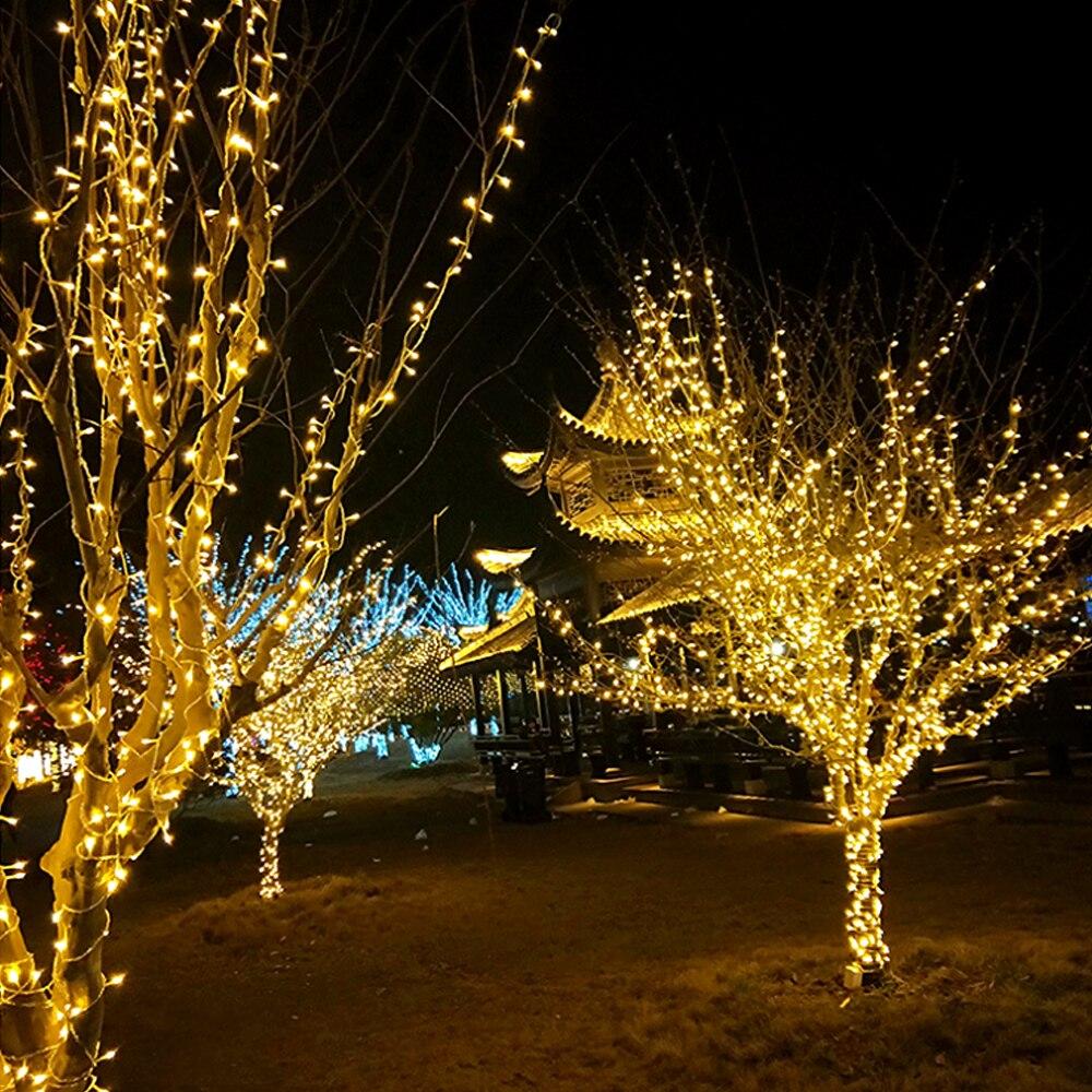 Luces LED de Navidad cadena de la estrella del cielo luces intermitentes Decoración LED para exteriores luces de centro comercial al aire libre cadena de luces de alambre
