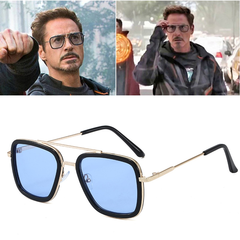High Quality Iron Man Tony Stark Fishing Sunglasses Square Outdoor Sport Fishing Glasses Men Spider
