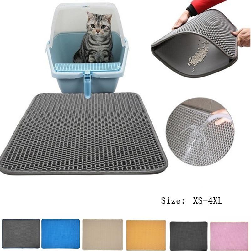 10 Colors Litter Mat Pet Carpet Cat Sand Cat Toilet Mat Cats Waterproof Mats For Pets Cats Trapper Foldable EVA Non-slip Mats