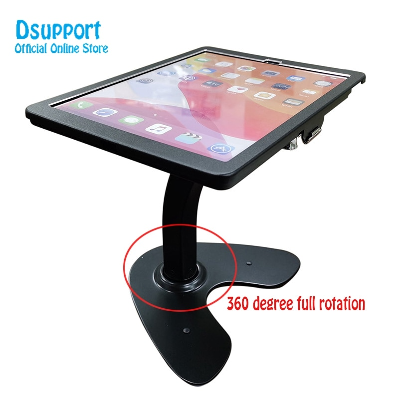 Fit for 12.9 iPad Pro 3/4 Tablet desk stand anti-thief Lockable Metal Tablet Holder enlarge