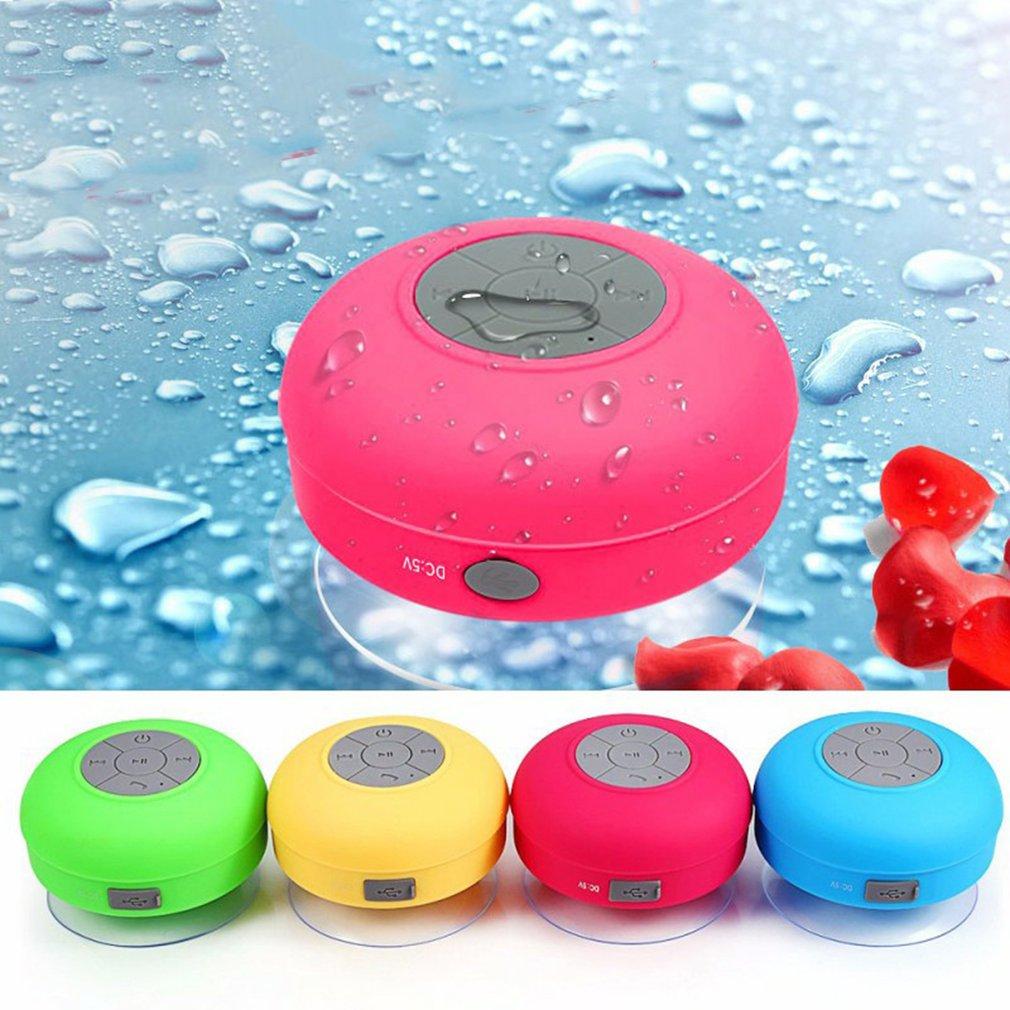 Mini Bluetooth Portable Wireless IPX4 Waterproof Shower Speaker Handsfree Sucting Mic Car Bathroom Wireless Audio Transmission