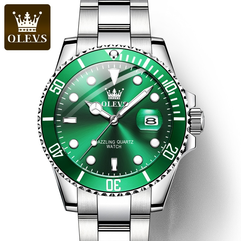 Well-Known Brand Watch Lawn, Waterproof, High-End, High-End, Green, Ghost, Quality, Style, Watch, Men, Stone, 2021