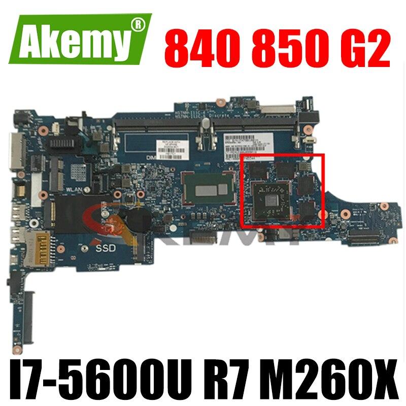 ل HP 840 850 G2 اللوحة المحمول 799543-601 799543-001 مع i7-5600U/i7-5500U R7 M260X GPU 6050A2637901-MB-A02 100% اختبار